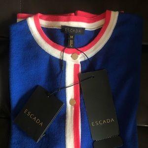 ESCADA Cobalt Cardigan in Size M